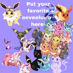 freetoedit pokemon evee eevee eeveelution