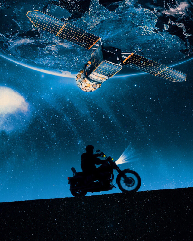 #freetoedit #spacesunday #travel #silhouette #bike #satellites #ufo #overcast @pa @freetoedit