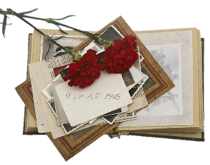 journal peony flowers red letters freetoedit