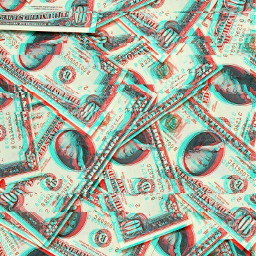 freetoedit money aesthetic glitch