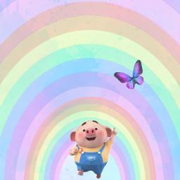 ircwatercolor watercolor freetoedit pig littlepig