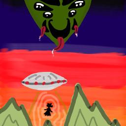 dcufo ufo alien aliens art freetoedit