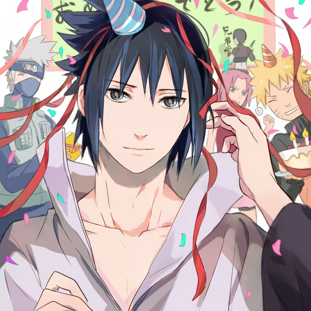 HAPPY BIRTHDAY SASUKE!!!💙💙💙💙💙 you'll always be my edgy little baby UwU💜🖤💙  🥀Credit to the artist!🥀 #sasukeuchiha #naruto #anime