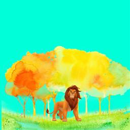 nature lion freetoedit