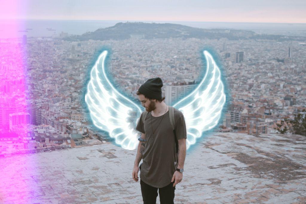 #replay #wings #neon #boy #mask #neonlight