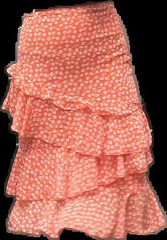 orange skirt fashion clothes clothing freetoedit