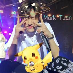 freetoedit got7mark kpopedits markgot7 pikachuuu