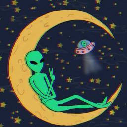 alien👽 aliensarereal aliens alienart moon dcufo