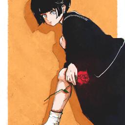 punksy artist painter illustrator drawing animeart animedrawing anime manga rose