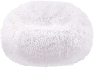 white chair beanbag furniture furry freetoedit
