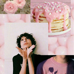 finnwolfhard freetoedit pinkaesthetic pastelcolors collages collagefreetoedit