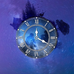 nature people sky night clockface freetoedit