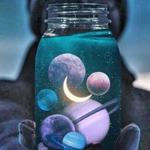 #freetoedit,#crescentmoon,#bottleart,#artistic,#srcplanetballoons