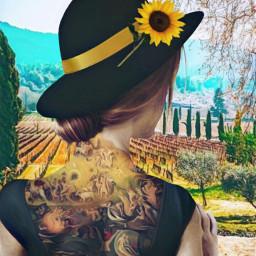 freetoedit getatattoo girl bodyart tattoo