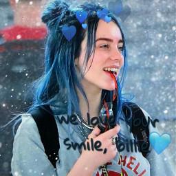 billieeilish billieeilishsmile smile beautifulsmile bluehearts freetoedit