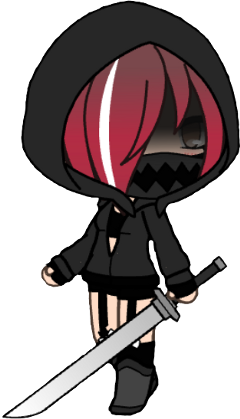 freetoedit red gachalife sword hood