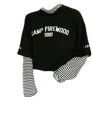 fashion outfit top shirt egirl stripe campfirewood cute