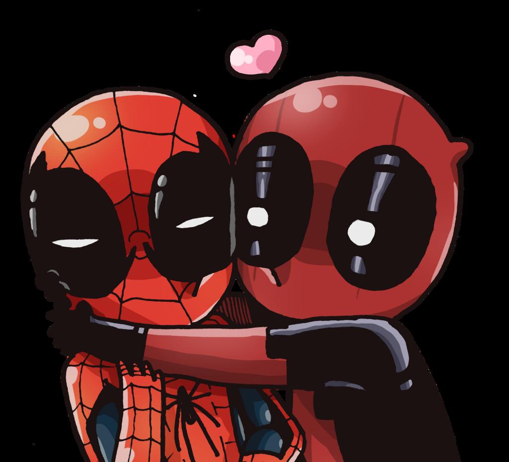 #Deadpool #Spider-Man #ElHombreAraña #RyanReynolds #AndrewGarfield Spider-Man And Deadpool Kiss #MARVEL #2017
