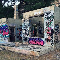 adobehome adobe abandoned graphitti art
