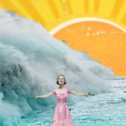 ocean sun watchout wave