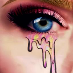 freetoedit eyescolor eyesblue tears glitter srcholographictears