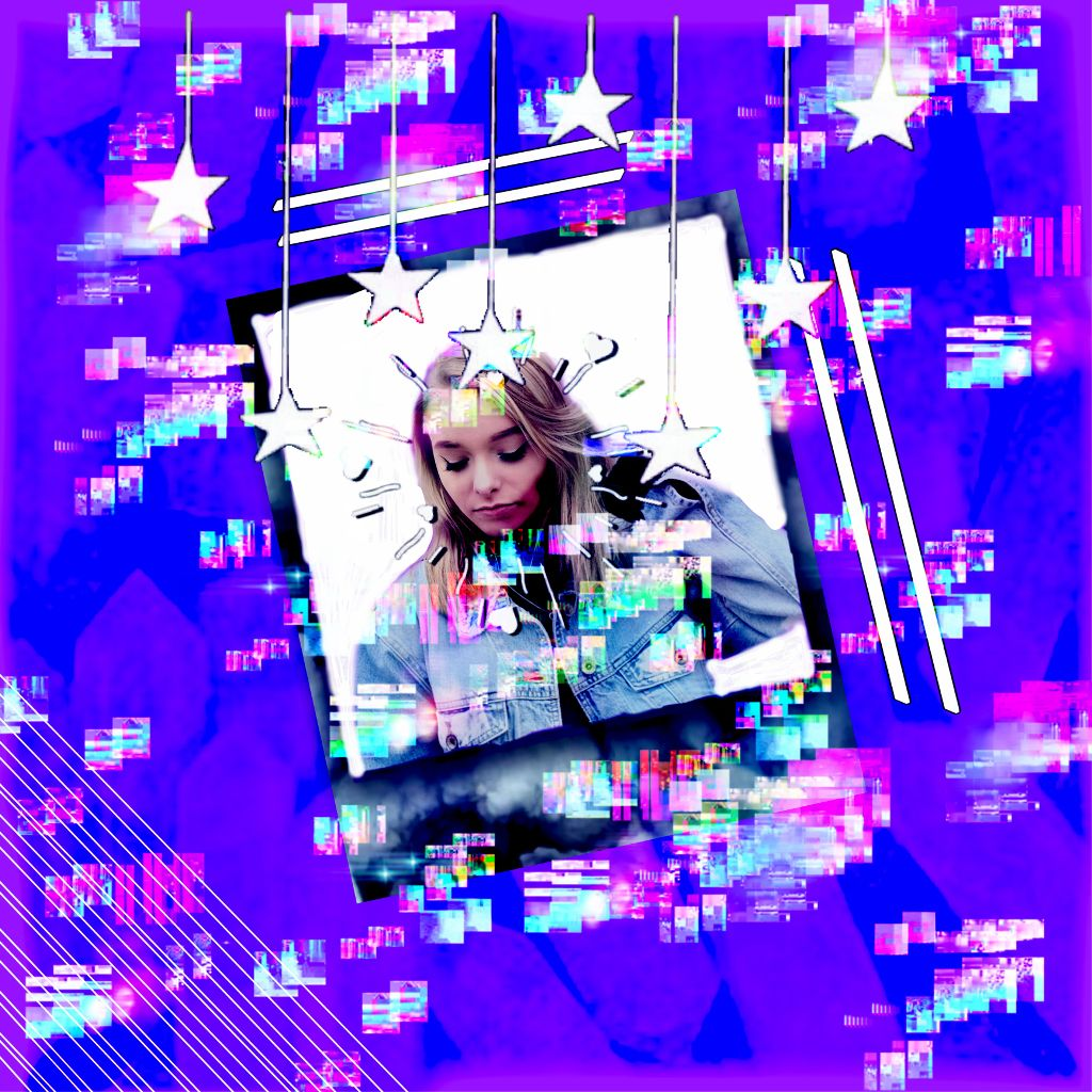 First Post Zoe Laverne Zoelaverne Purple Glitchy Aesth