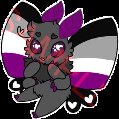 asexual moth pride art freetoedit