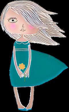 girl dress flower cute people freetoedit