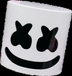 freetoedit marshmello mask marshmallow