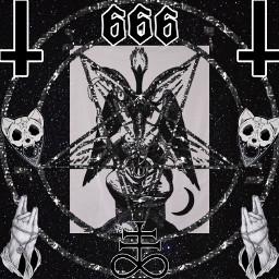 freetoedit satanic satan baphomet satanism