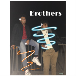 brothers posers freetoedit flowers lines