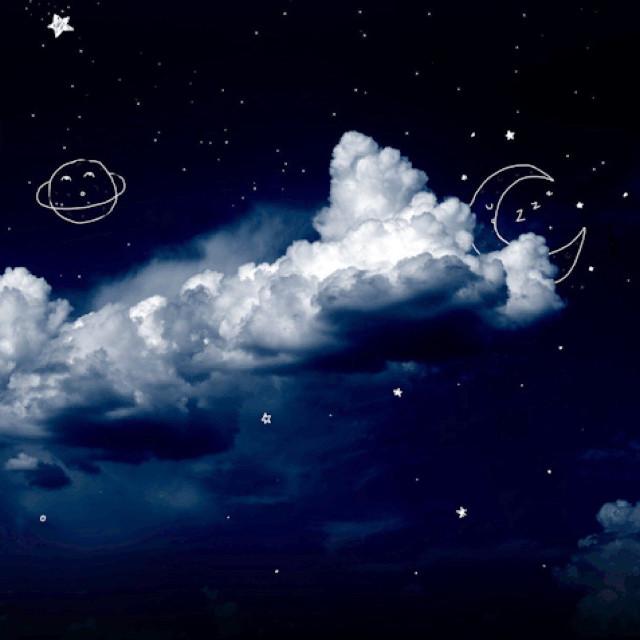#moon #aesthetic #aestheticallypleasing #stars #nightsky #night #blueaesthetic #cloudaesthetic #picsart  #freetoedit