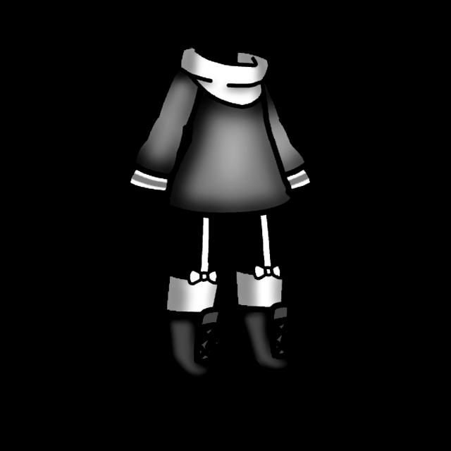 #freetoedit #gacha #gachalife #black #white #clothes #shirt #boots #socks #scarf #recolor