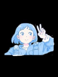blue blueaesthetic aesthetic anime manga freetoedit
