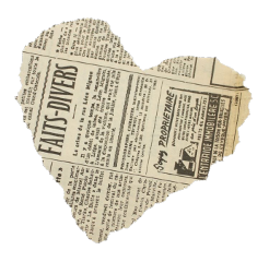 aesthetic moodboard png newspaper heart freetoedit