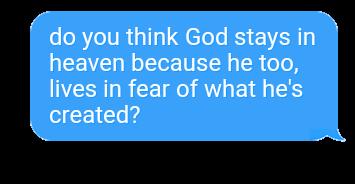 god heaven fear text message freetoedit