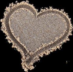heart sand imprint beach love freetoedit