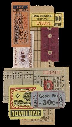 ticket vintage freetoedit