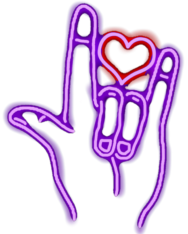 #rock #love #neon #sticker
