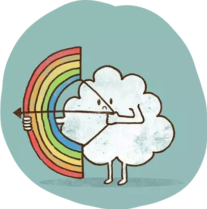 #rainbow #cloud