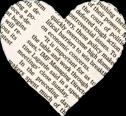 #heart #newspaper #freetoedit