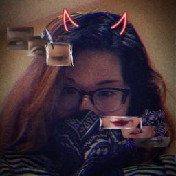 edit selfedit dark egirl badass