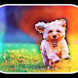 freetoedit rainbow doggie