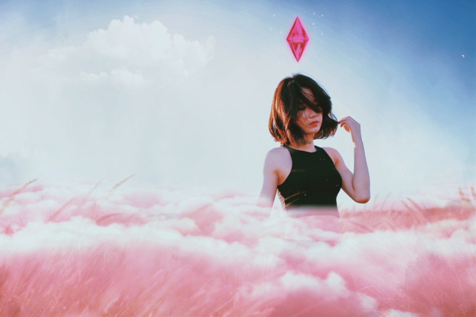 #freetoedit In the clouds ✨#clouds #pink #sky #surreal #madewithpicsart