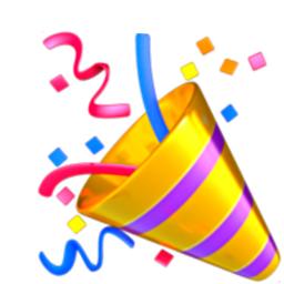 finally happy confetti party 1k