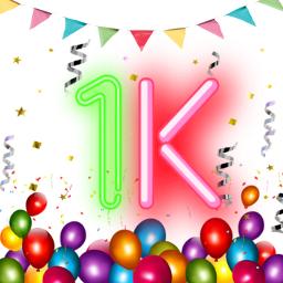 1k 1kfollowers ballons confetti love