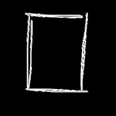 border square rectangle line white freetoedit