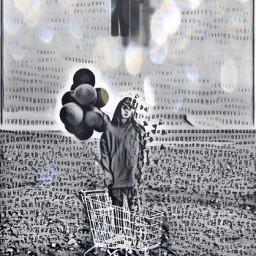 nf music thesearch blackandwhite balloons freetoedit