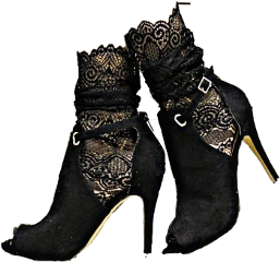 feet highheels shoes black lace freetoedit