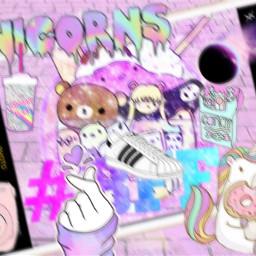 freetoedit kawaii unicorn iphone